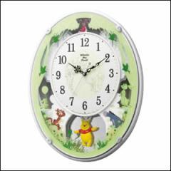 RHYTHM リズム時計 クロック 4MN523MC03 電波 掛時計 くまのプーさんM523