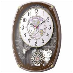 リズム時計 クロック 4MN540MB13 ハローキティM540