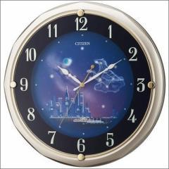 リズム時計 クロック 4MY819-018 電波掛け時計 ファンタジータウン