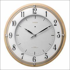 リズム時計 クロック 4MY837-006 ソーラー電源電波掛け時計 サイレントソーラーM837