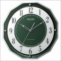 RHYTHM リズム時計 クロック 4MY846SR05 高感度電波掛時計 スリーウェイブ スリーウェイブM846