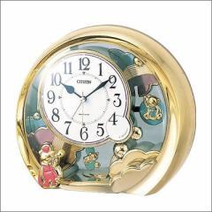 リズム時計 クロック 4SE504-018 置き時計 ファンタジーランド504