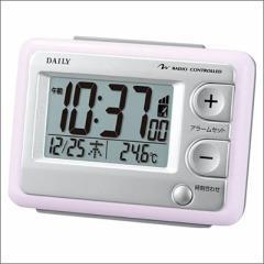 RHYTHM リズム時計 クロック 8RZ095DN13 電波目覚まし時計 ジャストウェーブR095DN