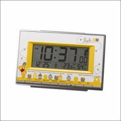 リズム時計 クロック 8RZ133MC08 くまのプーさん 電波目覚まし時計