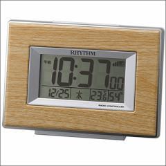 RHYTHM リズム時計 クロック 8RZ174SR07 電波目覚まし時計 フィットウェーブD174