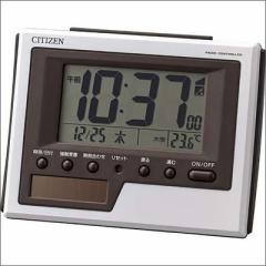 RHYTHM リズム時計 クロック 8RZ186-003 ソーラー電波 目覚まし時計