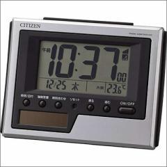 RHYTHM リズム時計 クロック 8RZ186-019 ソーラー電波 目覚まし時計