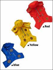 ドッグウエア Autumn Cloth 犬用服 ペット用品 Raincoat Blue Yellow Red ブルー イエロー レッド 青 黄 赤 レインコート