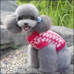 ドッグウエア Autumn Cloth 秋 冬 犬用服 ペット用品 Romantic sweater Rose ローズ セーター