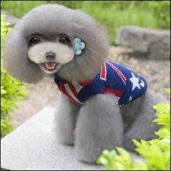 ドッグウエア Autumn Cloth 秋 冬 犬用服 ペット用品 England flower sweater Blue ブルー 青 セーター