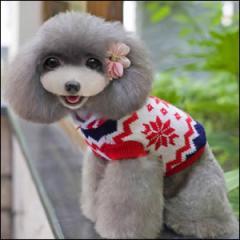 ドッグウエア Autumn Cloth 秋 冬 犬用服 ペット用品 Snow pattern with hoddie sweater As photoes セーター