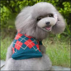 ドッグウエア Autumn Cloth 秋 冬 犬用服 ペット用品 Stylish grid sweater Deep green ディープグリーン 深緑 セーター