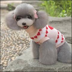 ドッグウエア Autumn Cloth 秋 冬 犬用服 ペット用品 Romantic love sweater Pink ピンク セーター