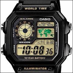 【レビューを書いてメール便送料無料】【箱無し】海外CASIO 海外カシオ 腕時計 AE-1200WH-1B メンズ スポーツウォッチ