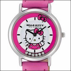 Q&Q キュー&キュー 腕時計 HK17 132 レディース HELLO KITTY ハローキティ Citizen シチズン ラインストーン
