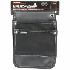 帆布製電工腰袋/E−Value/腰袋サック1/帆布製袋/EHN−D BK ブラック