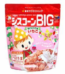 ★まとめ買い★ 日清シスコ シスコーンBIG いちご 200g  ×6個【イージャパンモール】