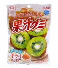 ★まとめ買い★ 明治 果汁グミ キウイ 47g ×10個【イージャパンモール】