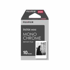 【送料無料】FUJIFILM instax mini チェキ用フィルム 絵柄入りフレームタイプ モノクローム 10枚入【...