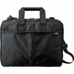 【送料無料】パソコン対応 ソフトビジネスバッグ ブラック H2531【代引不可】【ギフト館】