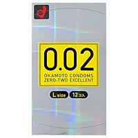オカモト うすさ均一0.02EX Lサイズ(12個入)【コンドーム】【イージャパンモール】