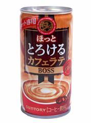 サントリーボスほっととろけるカフェラテ 185g缶【イージャパンモール】