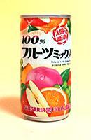 サンガリア 100%フルーツミックスジュース 190g缶【イージャパンモール】