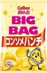 【送料無料】カルビー(株) ポテトチップス コンソメパンチ ビッグバッグ 170g ×12個【イージャパンモール】