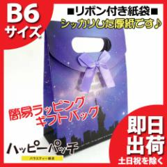 ◎ リボン付きマチあり紙袋 B6サイズ 自由の女神 RP-123 【簡易ラッピングセット,簡易包装,ギフトバッグ,ギフトバック,エレガント】