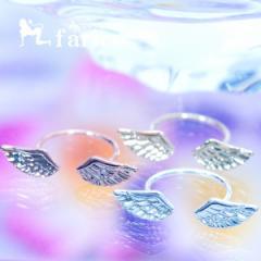 天使 エンジェル 羽 フェザー トゥー リング 指輪 ジュエリー フリーサイズ 【ピンクゴールド/イエローゴールド/シルバー】