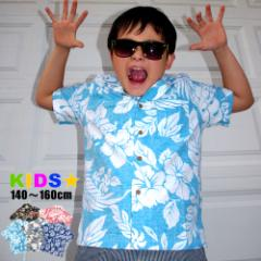 子供服 女の子 男の子 キッズ アロハシャツ 綿 コットン 半袖 アロハシャツ 140cm 150cm 160cm マルカワ コットンアロハ ジュニア ハワイ