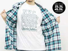 送料無料 大きいサイズ 3L 4L 5L メンズ シャツ 半袖 Tシャツ付き cosby キングサイズ 2L 3L 4L 5L マルカワ コスビー