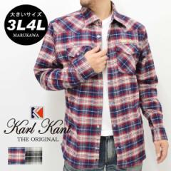 【送料無料】【大きいサイズ】シャツ メンズ 大きいサイズ メンズファッション 大きいサイズ シャツ 長袖 アメカジ ネルシャツ 3L 4L