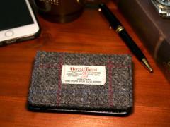 送料無料 Harris Tweed 定期入れ パスケース ICカード ケース カードケース ビジネス メンズ レディース メンズファッション 大容量 通勤