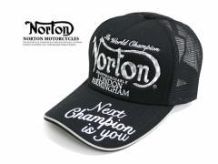 NORTON  帽子 チェック ロゴ 刺繍 メッシュ キャップ CAP ノートン キャップ 帽子 メッシュ キャップ ロゴ メンズ レディース キャップ