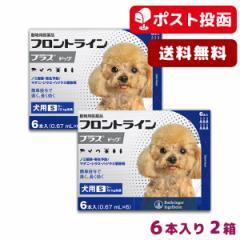 【A】【ポスト投函送料無料】フロントライン プラス 犬用 S 5-10kg用 6本入 2箱セット【動物用医薬品】