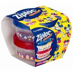 【C】Ziploc スクリューロック 300ml 2個入 ミッキー &ミニー 2019【Ziploc(ジップロック)】 【ディズニー】