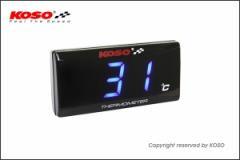KN企画:KOSO スーパースリムスタイルメーター温度計ブルー表示
