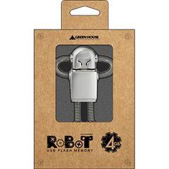 送料無料有/[グッズ]/GREENHOUSE ロボット型USBフラッシュメモリ 4GB GH-UFD4GRBT/NEOACS-33159