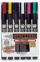 送料無料有/[グッズ]/GMS110 ガンダムマーカー 細先タイプセット 6色セット/NEOGDS-183980