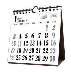 [グッズ]/【2020年9月発売】卓上 WHITEスケジュール [2021年カレンダー]/カレンダー/2021CL-651