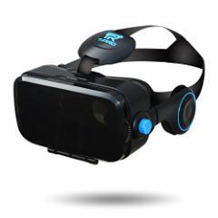 T-PRO 3D VRゴーグル イヤホン一体型 iphone各シリーズ/android 各種対応 4.0~6.0インチ ブラック