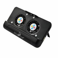 スマホ 冷却 ファン ケース型バッテリー 5000mAh iphone6s/7 多機種対応 卓上スタンド Blu7ive (ブラック)