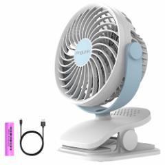 【2017年最新バージョン】USB扇風機 小型携帯充電クリップ式 卓上扇風機 超静音 大風量4段階調節 360度角度調整 ベビーカー 扇風機 かわ