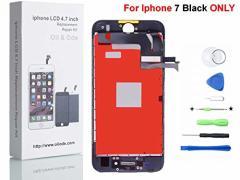 Oli & Ode iPhone 7 4.7 インチ3Dタッチスクリーン修理交換用フロントパネル(フロントガラスデジタイザ)修理工具付属 (ブラック)