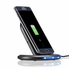 Qiワイヤレス充電器 Wrcibo ワイヤレスチャージャー 2つのコイル 無線充電パット 折り畳み式 スマホ 充電 スタンド Galaxy S8、S8 Plus、