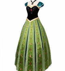 アナと雪の女王 アナ ドレス コスチューム レディース アナ コスプレ衣装 (女L)