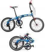 【新品/取寄品】DOPPELGANGER(ドッペルギャンガー) 20インチ折りたたみ自転車 202-BL mobility6 ブ