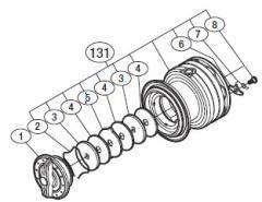 ●シマノ 13ナスキーC3000HG(03115)用 純正標準スプール (パーツ品番105) 【キャンセル及び返品不可商品】
