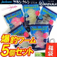 【在庫限定40%OFF】ジャクソン 爆釣ワレカラ 2.3インチ 5個セット(福袋) 【メール便配送可】【fuku6】/ワーム/アジング/メバル